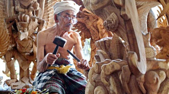 mas wood carving village