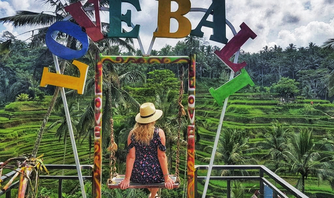 tegalalang i love bali sign